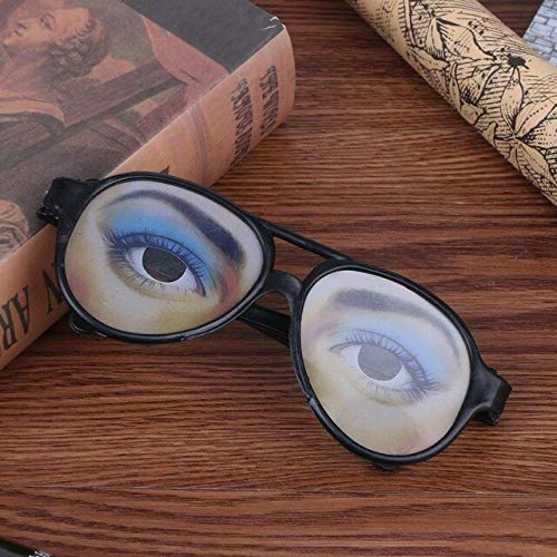 Glasses Glasses - Adult Party Awesome Funny Eye Eyeglass Mask Costume Disguise Prank Joke Glass - Amusing Spyglass Odd Oddly Ill Laughable Glaze Mirthful Queerly Singular Comical - 1PCs