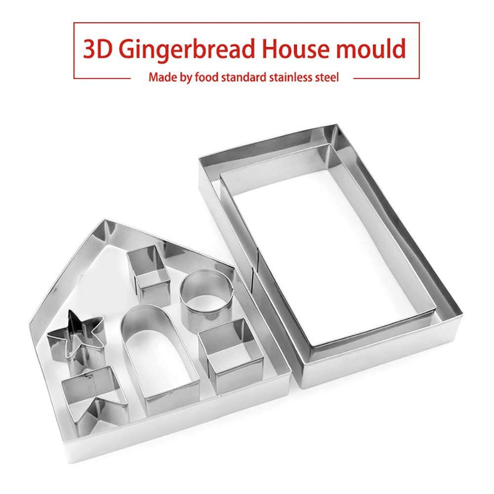 Amazon.com: Gessppo 1 Set Christmas Stainless Steel Cake Cutter Mold Baking Tool for Bread Chocolate Cookie Jelly Biscuit Candy Mould Kitchen Tool: Home & ...