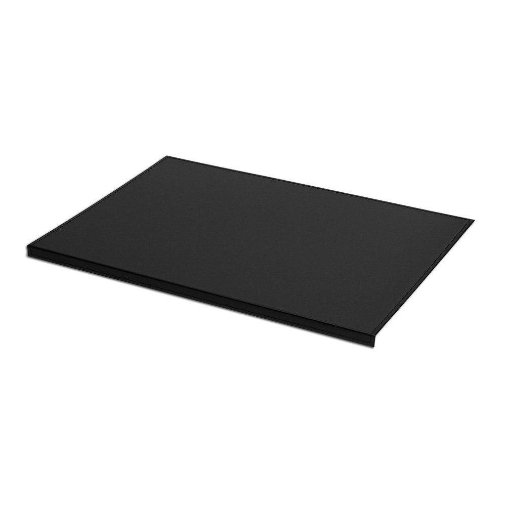 Eglooh - Calliope - Sous-main pour bureau en cuir Noir, antidérapant avec structure en acier, cm 70x50, produit en Italie