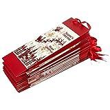 Juvale 12-Pack Wine Bags - Paper Bags Satin Handles