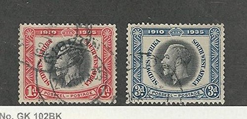 South West Africa, Postage Stamp, 121, 123 Used, 1935