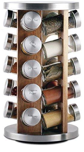 Orii GSR3519-L Rotating Spice Rack, 8.5 x 8.5 x 14, Light natural wood