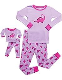 Kids & Toddler Pajamas Matching Doll & Girls Pajamas 100% Cotton Pjs Set (Toddler-14 Years) Fits American Girl