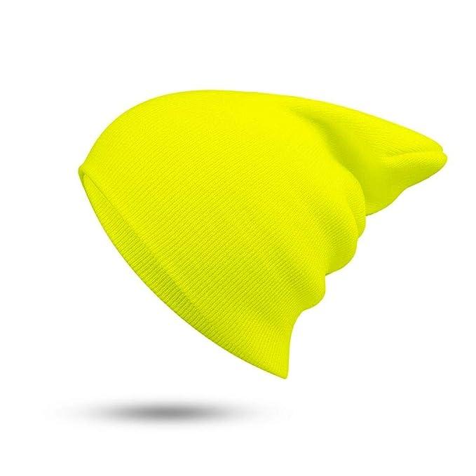 ... Cálido Suave Sombreros de Punto Hombres Gorras de Invierno Skullies de Las Mujeres Gorros para Chica Al por Mayor, F: Amazon.es: Deportes y aire libre
