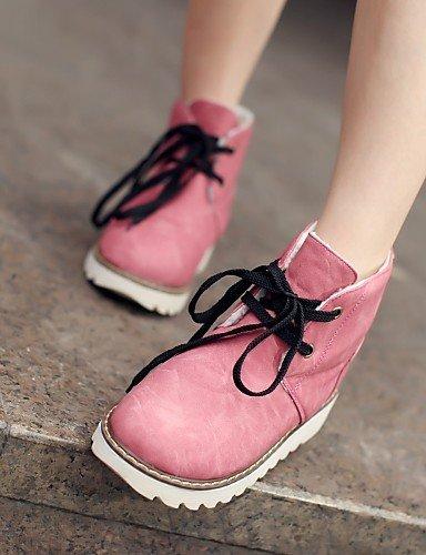 Oficina La Pink Exterior Eu36 De Cn39 Xzz Semicuero A Mujer us8 Trabajo Pink Cn us6 Uk6 Vestido Y Moda Plataforma Botas Zapatos Eu39 Comfort Cn36 Uk4 Casual azul qg0Cwv