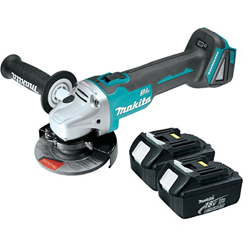 Makita XAG03Z 18V 4-1/2'' Brushless Cut-Off/Angle Grinder w/ (2) BL1830 Batteries by Makita