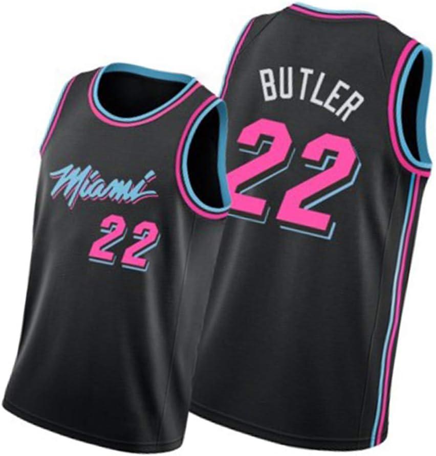 Parfait pour Les Sports de Plein air GDHA Maillot et Short de Basket-Ball Jimmy Butler Miami Heat 22# Combinaison dentra/înement pour v/êtements pour Hommes /évacuant et s/échage Rapide