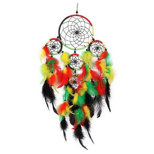 UNAKIM--Handmade Multicolor Feather Dream Catcher Hanging Ornament Bedroom Decor Fashion (United Lamp Manchester Bedroom)