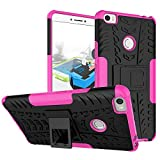 Xiaomi Mi Max Phone Case DWaybox Hybrid Rugged Heavy Duty Armor Hard Back Cover Case for Xiaomi Mi Max 6.4 Inches Stand Case with Kickstand (Hot PinK)