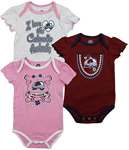 Outerstuff Colorado Avalanche NHL Infants Creeper Set (18 Months)