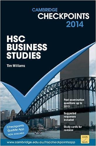Cambridge Checkpoints HSC Business Studies: Tim Williams