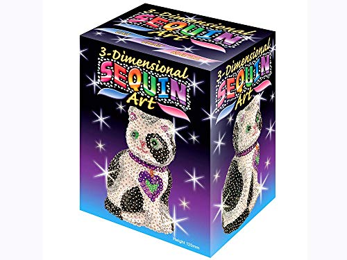 Sequin Art 3D, Cat, Sparkling Arts and Crafts Kit; Creative Crafts for Adults and Kids ()