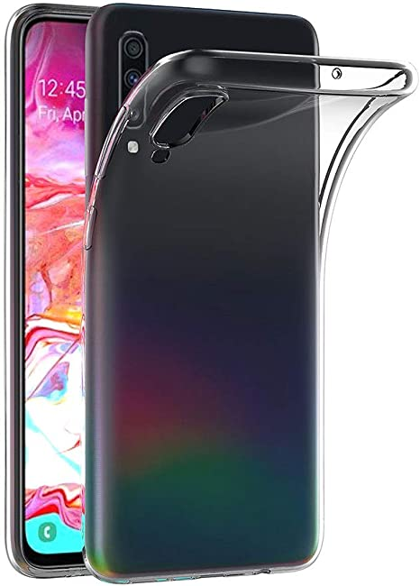 AICEK Funda Samsung Galaxy A70, Transparente Silicona Fundas para ...