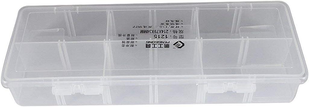 1215 Caja de herramientas de plástico Caja de herramientas transparente Componentes electrónicos Caja de almacenamiento de tornillos Piezas de plástico electrónicas Cajas de herramientas (transparente: Amazon.es: Bricolaje y herramientas