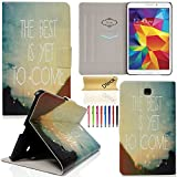 Tab 4 8.0 Case, Dteck(TM) Stylish Portable Design Premium Leather Flip Stand Case [Auto Sleep/Wake Feature] Full Body Protective Cover for Samsung Galaxy Tab 4 8.0 SM-T330 (02 The Best Is Yet To Come)