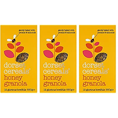 (3 Pack) - Dorset Cereal - Honey Granola | 550g | 3 Pack Bundle: Health & Personal Care
