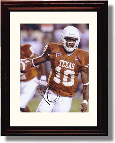 (Framed Vince Young #10 Texas Longhorns Autograph Replica Print)