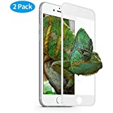 【2PACK】iPhone 7 Screen Protector KAYA Full Screen Coverage 0.33mm Tempered Glass Screen Protector for Apple iPhone 7 4.7inch(WHITE)