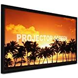 VEVOR Projector Screen 110inch Outdoor Projector Screen 16:9 Movie Screen Fixed Frame 3D Projector Screen for 4K HDTV Movie Theater