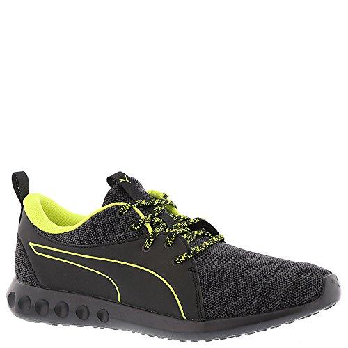 PUMA Men's Carson 2 Terrain Sneaker, Puma Black-Quiet Shade-Nrgy Yellow, 11.5 M US