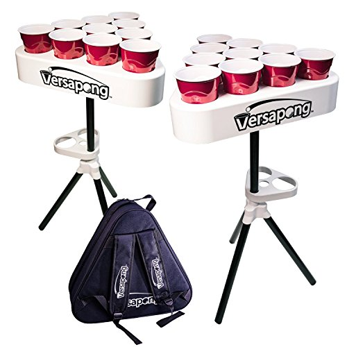 Versapong Portable Beer Pong Table / Tailgate Game with Backpack Carry Case and Balls -
