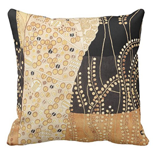 VaryHome Throw Pillow Cover Vintage Fabrics African Earth Tone Colors Floral Textiles Decorative Pillow Case Home Decor Square 18 x 18 Inch Pillowcase