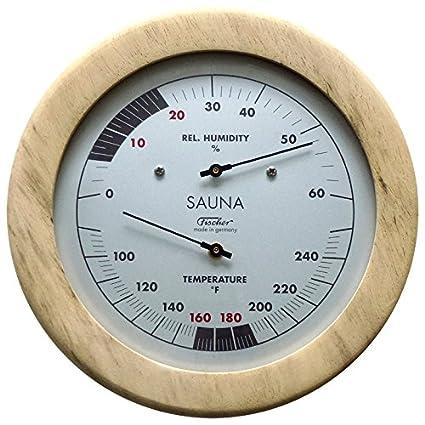 Amazon.com   Fischer Sauna Thermometer (°Fahrenheit)   Hygrometer 6.1 Inch 1d4dede6588c8