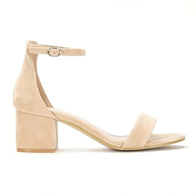 30ce8b42afa8 Shoe Closet Ladies Nude Barely There Low Heeled Peep Toes Strappy Sandals  UK3 EURO36