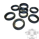 Lot of 8 Rubber Grommets 2-1/4'' Inside Diameter - 1/4 Gw - Fit 2-1/2'' Hole