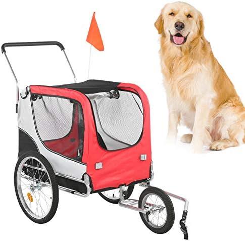 Hondenkatwandelwagen 2 in 1360draaibare kinderaanhangwagen Reiswandelwagen voor huisdieren fietsaanhangwagen met buggyset Jogger
