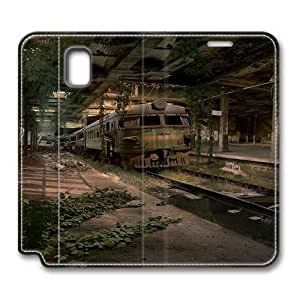 Abandoned Train Station Samsung Galaxy Note 3 Flip Leather Case Cover