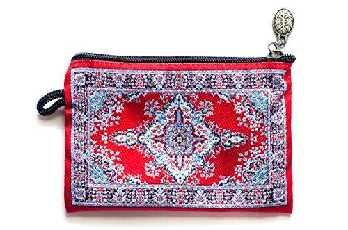 Oriental Carpet Woven Coin Change Purse- Urumchi Collection (Coin Purse Woven Bag Zipper)