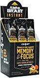 Onnit Alpha Brain Instant | Nootropic Drink Mix Clinically Studied to Support Memory, Focus, and Processing Speed | Natural Peach – 30 Packets For Sale