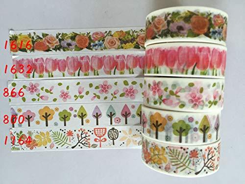 2290 China Wholesale jiataihe washi Tape Removable Romania DIY Scrapbook Solid Color Adhesive Triangle Rose DIY 90pcs/lot