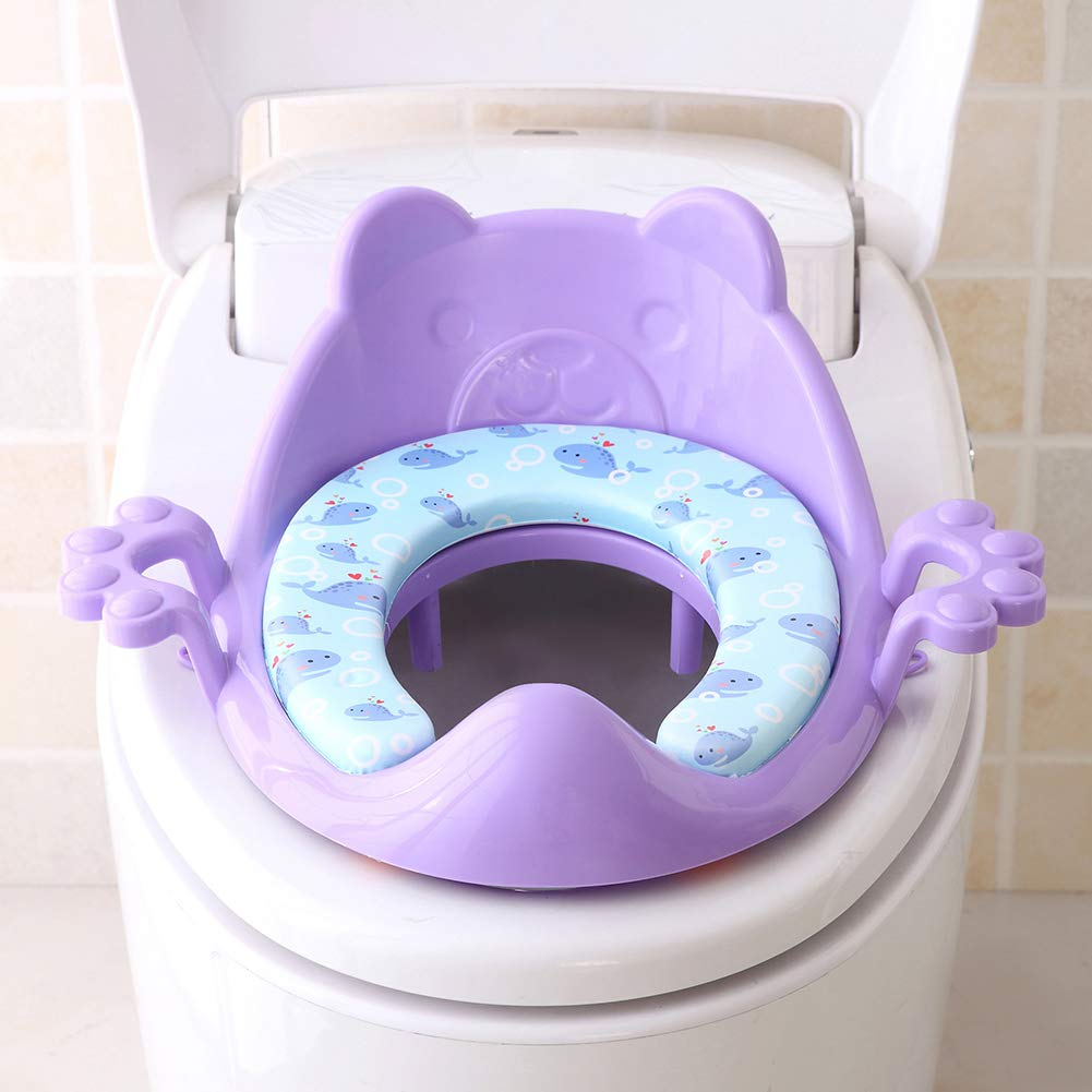 Baby Potty Training Seat Cushion Soft Cushion Toilet Seat for Baby and Toddler Boys and Girls Purple