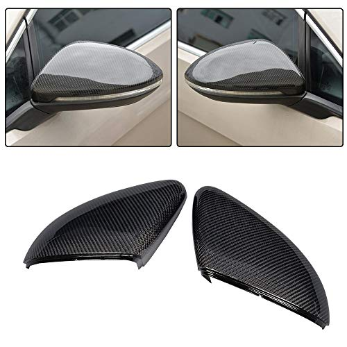 Jc Golf Accessories - JC SPORTLINE fits Volkswagen VW Golf 7 MK7 MK7.5 GTI R 2014-2019 Replacement Carbon Fiber Mirror Cover Cap Rearview Shell