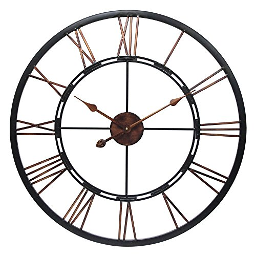 Infinity Instruments Round Metal Fusion, 28-Inch (Open Face Clock compare prices)