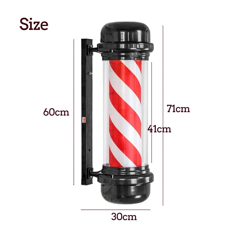 Nmoikin Poste de Barbero Giratorio Impermeable LED Luminoso para ...