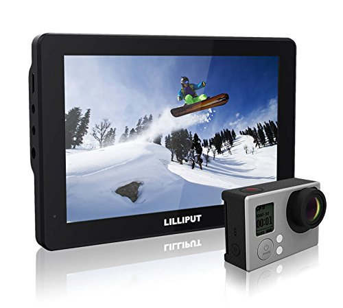 Lilliput Mopro 7 Inch X-Sports Camera Monitor with 2600mAh Built-in Battery for DSLR GoPro Hero 3+ / 4