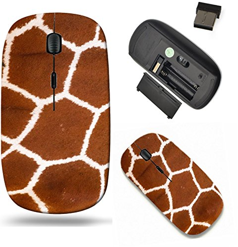 Liili Wireless Mouse Travel 2.4G Wireless Mice with USB Receiver, Click with 1000 DPI for notebook, pc, laptop, computer, mac book Close up of a giraffes print showing the hexagon - Print Laptop Bag Giraffe