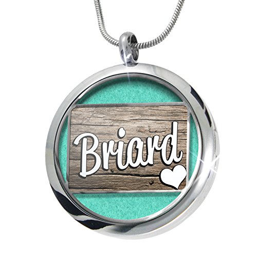 - NEONBLOND Briard, Dog Breed France Aromatherapy Essential Oil Diffuser Necklace Locket Pendant Jewelry Set
