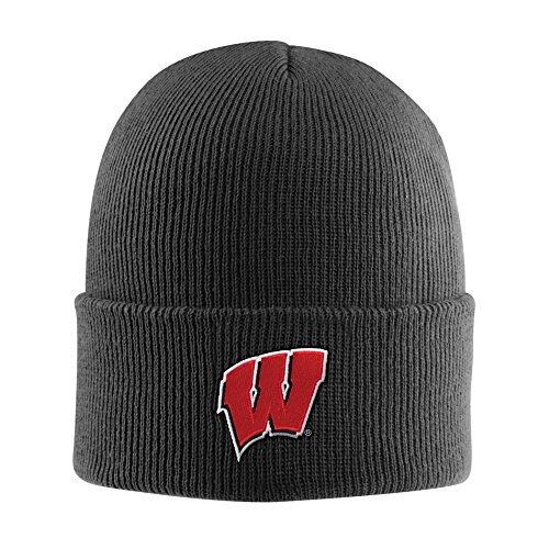 Wisconsin Badger Logo Watch - NCAA Wisconsin Badgers Acrylic Watch Hat, Black, One Size