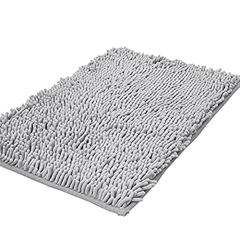 Shag-Style Bath Rug Non-slip Chenille Bathroom Shower Mats Absorbent Shaggy Rugs,15.7