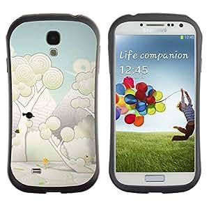 Hybrid Anti-Shock Bumper Case for Samsung Galaxy S4 / Cute Forrest