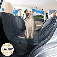 YoGi Prime Big Pet car seat cover for dogs by Heavy Duty Dog Hammock Waterproof backseat Covers, Pets Seat protectors for cars Trucks SUV XL truck bench back seats covers for Large Dogs universal fit