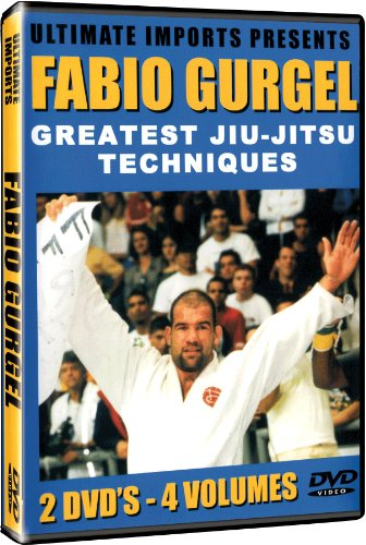 Fabio Gurgel's Greatest Brazilian Jiu-jitsu Techniques Instructional DVD Series for Sport Jiu-jitsu - 4 Complete Volumes