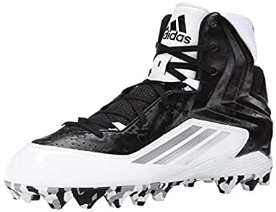 adidas Performance Men's Filthyquick 2.0 MD Football Cleat, Black/Black/White, 16 M US