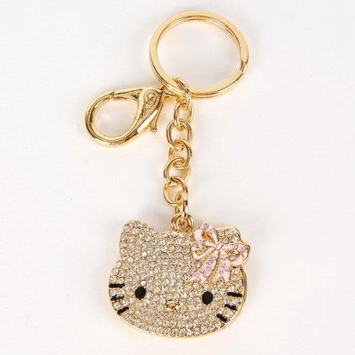 Hello Kitty Keychain Keyring Ring Keyfob Mirror (Hello Kitty Key Ring)