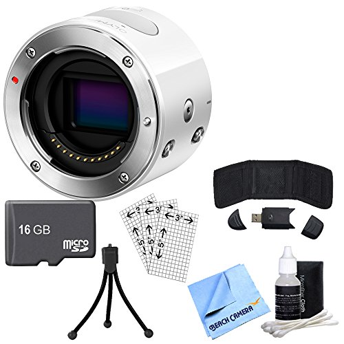Olympus Air A01 16MP Interchangeable Lens Smartphone Camera Body (White) with Bundle Includes, 16GB Micro SD Memory Card & many more.