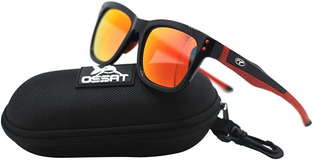 Ossat Square Polarized Classic Glasses Retro Polarized Sunglasses Retro Super Large Men and Women Protective Glasses UV400